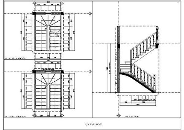 Bản vẽ cầu thang 21 bậc 01