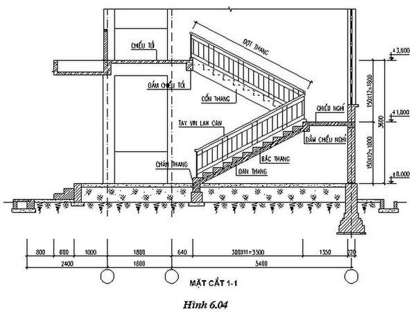 Bản vẽ cầu thang 21 bậc 03