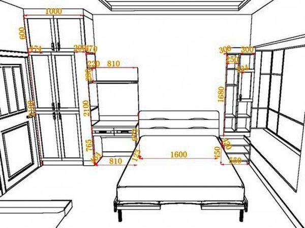 Bản vẽ phòng ngủ 12m2 07