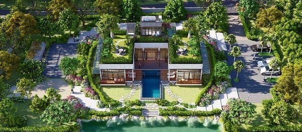 Bản vẽ thiết kế sân vườn cho biệt thự nghỉ dưỡng