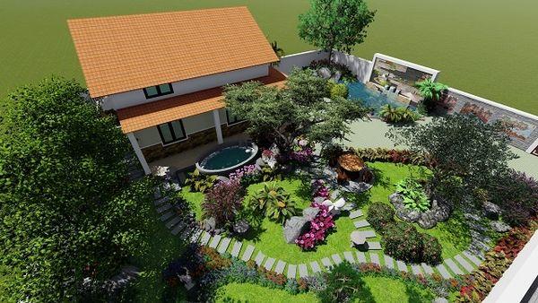 Bản vẽ thiết kế sân vườn 3