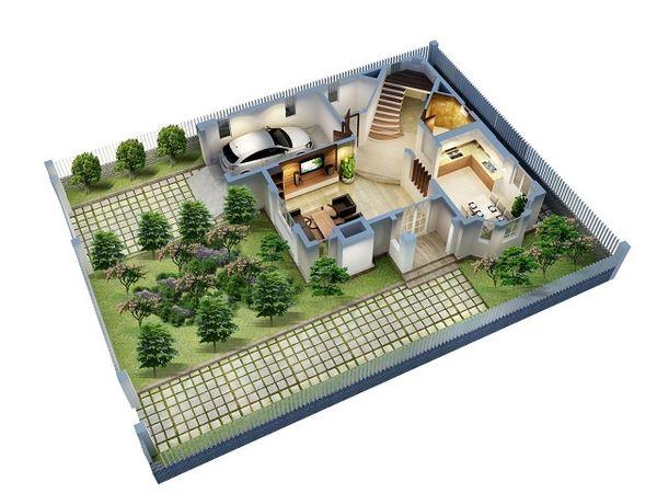 Bản vẽ thiết kế sân vườn giúp cân đối chi phí xây dựng sân vườn