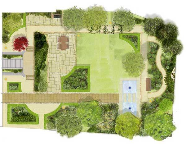 Bản vẽ thiết kế sân vườn cho biệt thư, nhà cấp 4, ...