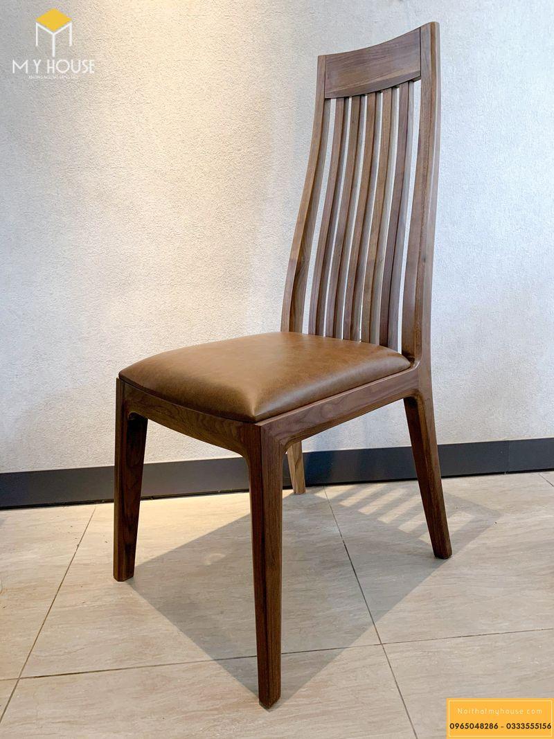 Mẫu ghế ăn gỗ óc chó 04