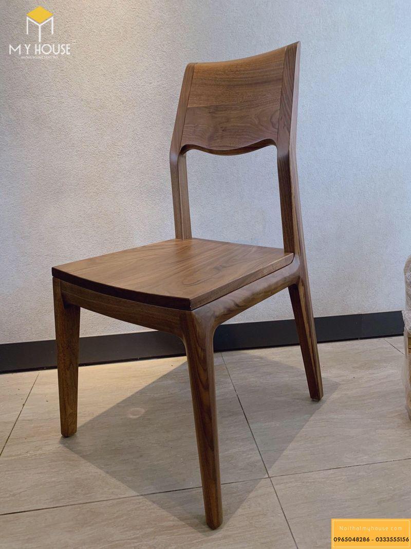 Mẫu ghế ăn gỗ óc chó 03
