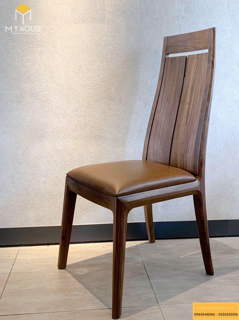 Mẫu ghế ăn gỗ óc chó 02