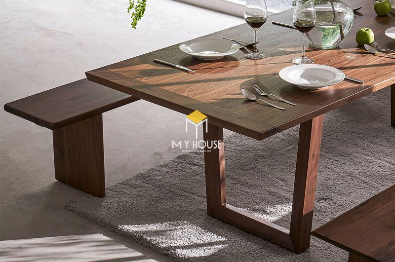 Bộ bàn ăn 10 ghế gỗ óc chó 3