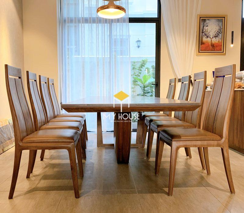Bộ bàn ăn 10 ghế gỗ óc chó 06