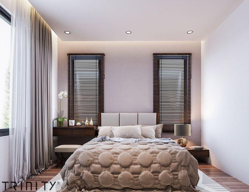 Vị trí cửa sổ phòng ngủ master, phòng ngủ rộng