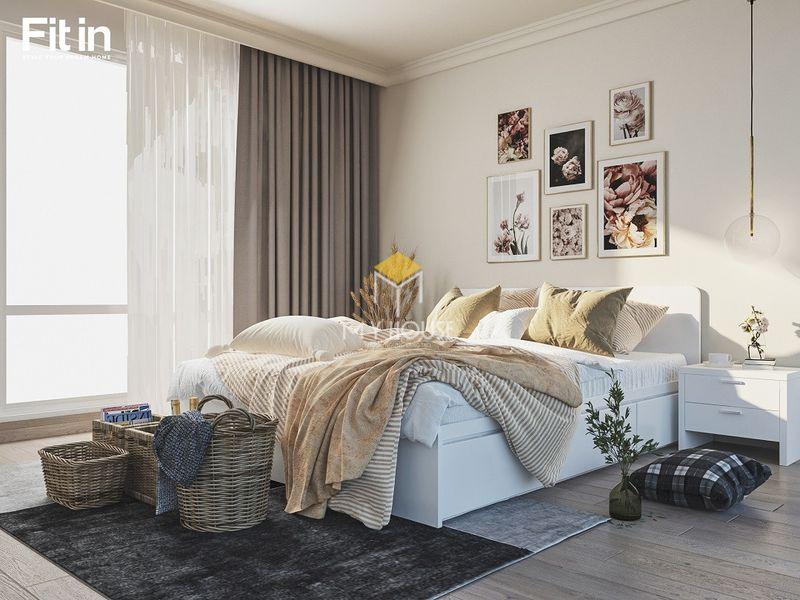 Decor phòng ngủ bằng rèm cửa hoa văn nhẹ nhàng