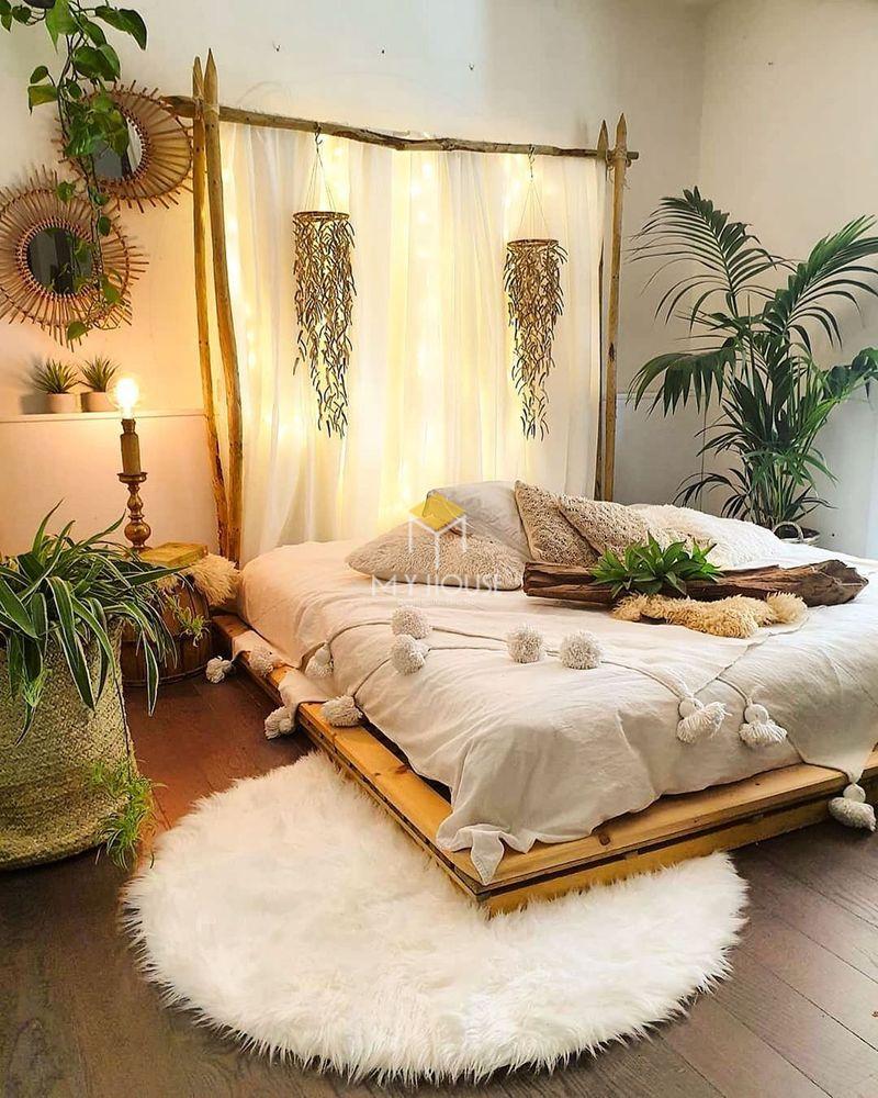 Đồ decor phòng ngủ bằng cây xanh
