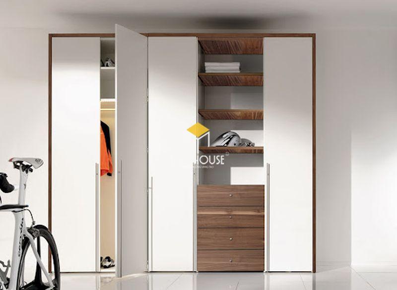 Tủ quần áo gỗ công nghiệp MDF phủ Acrylic
