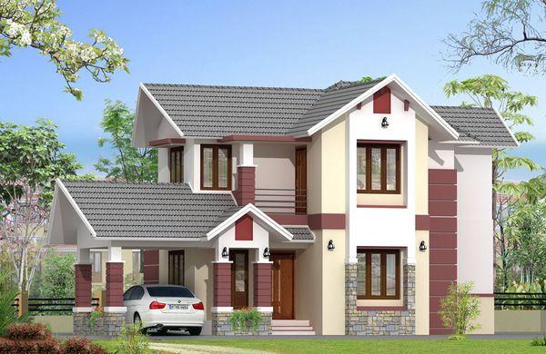 Mẫu nhà 2 tầng đẹp ở nông thôn 3