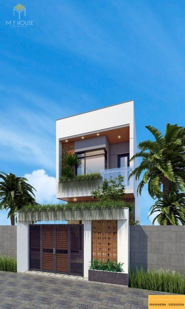 Mặt bằng thiết kế nhà 2 tầng đẹp ở nông thôn