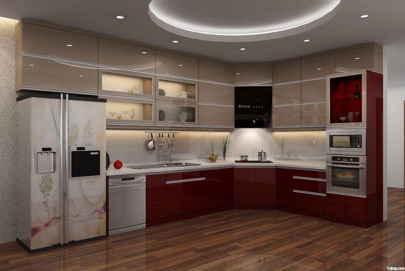 Tủ bếp có máy rửa bát âm tủ để bàn 18
