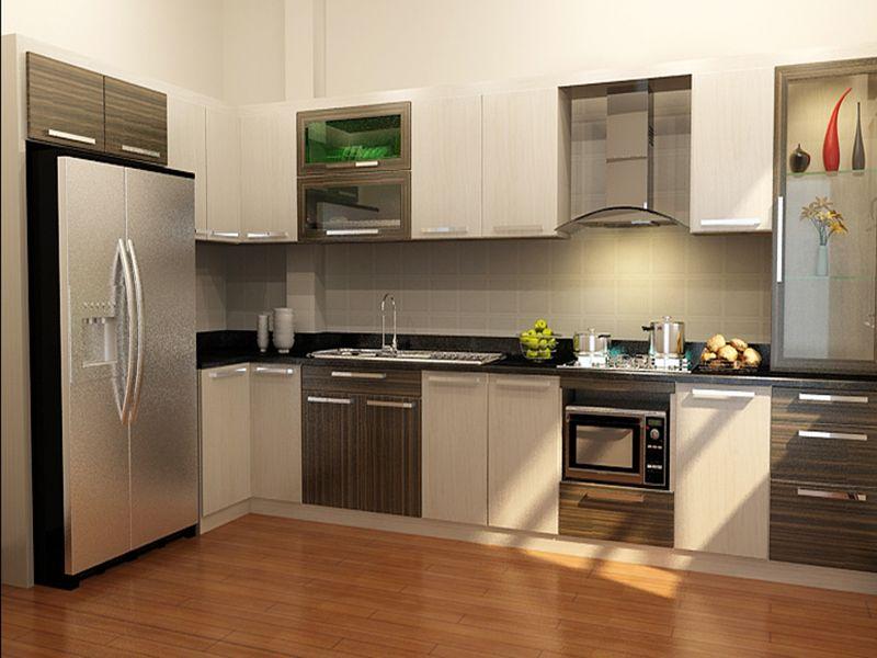 Mẫu tủ bếp có máy rửa bát 10
