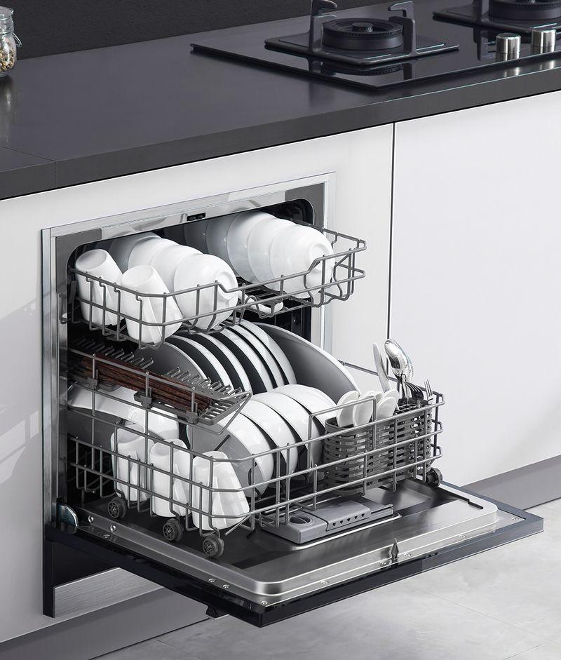 Tủ bếp có máy rửa bát âm tủ 16