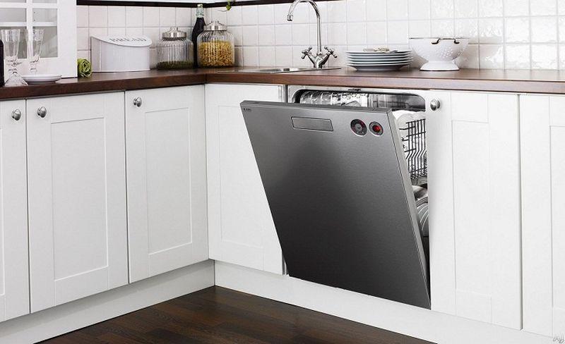 Mẫu tủ bếp có máy rửa bát 06