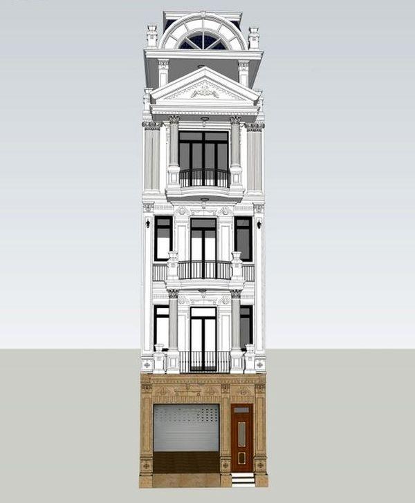 Nhà phố tân cổ điển 5 tầng 05
