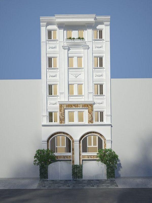 Nhà phố tân cổ điển 5 tầng 06