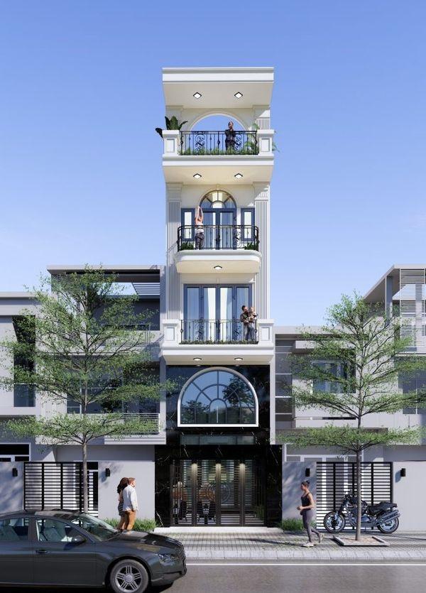 Nhà phố tân cổ điển 5 tầng 07