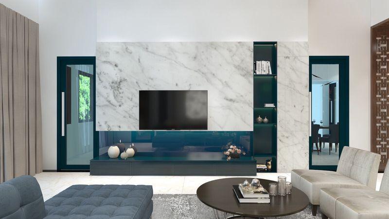 Thiết kế nội thất phòng khách nhà mái thái hiện đại - mẫu 13