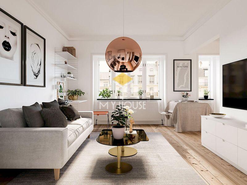 Thiết kế phòng khách chung cư nhỏ với phong cách hiện đại