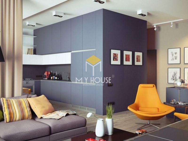 Phòng khách chung cư nhỏ 3