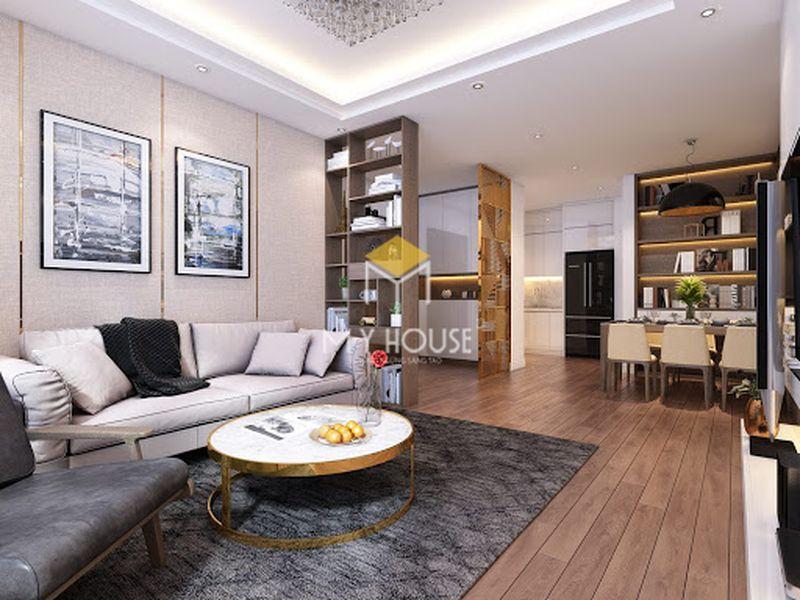 Mẫu nội thất phòng khách cao cấp cho chung cư sang trọng