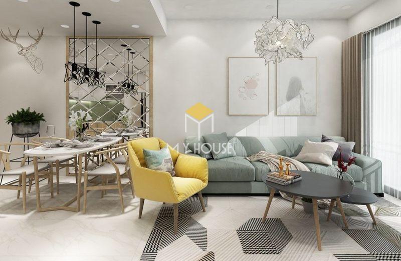 Thiết kế phòng khách chung cư nhỏ với không gian mở
