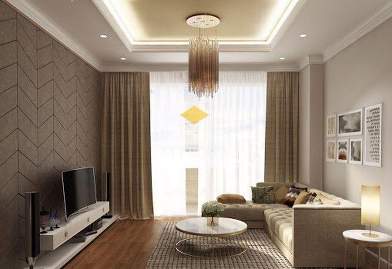 Thiết kế nội thất phòng khách chung cư 50m2