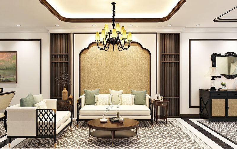 Đặc điểm của thiết kế phòng khách Indochine - Màu sắc