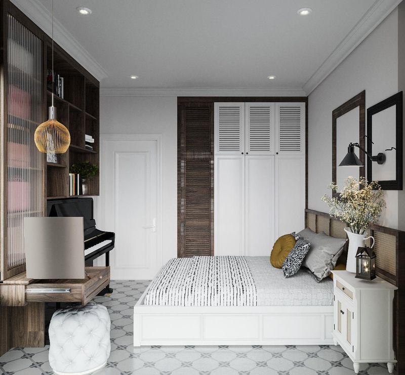 Mẫu thiết kế nội thất chung cư Indochine - Phòng ngủ 2