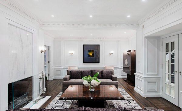 Thiết kế nội thất phòng khách tân cổ điển nhà ống