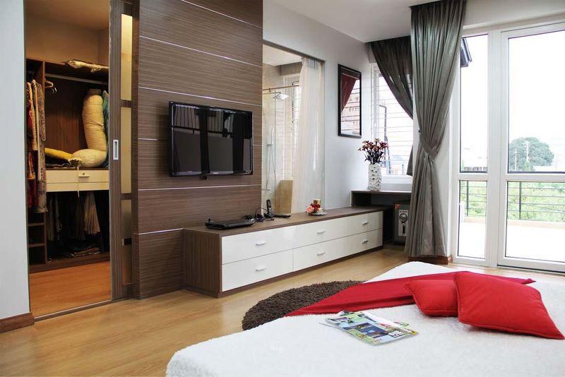 Thiết kế phòng thay đồ trong phòng ngủ hiện đại