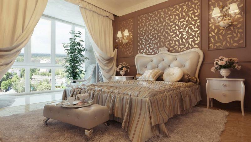 Phòng ngủ hoàng gia phong cách tân cổ điển