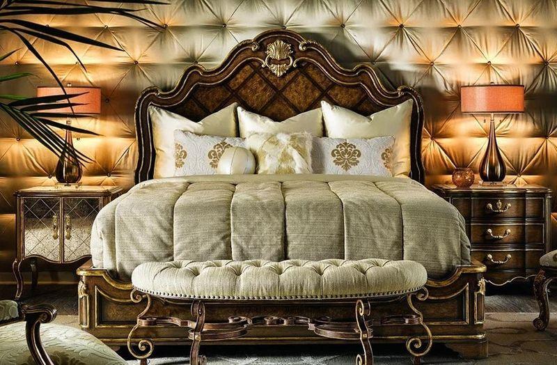 Nội thất giường ngủ cổ điển cho phòng ngủ hoàng gia