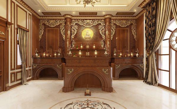 Phòng thờ đẹp cổ điển 03