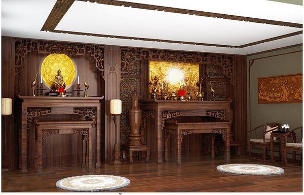 Phòng thờ đẹp cổ điển 14