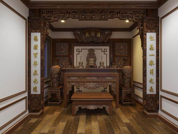Phòng thờ đẹp cổ điển 09