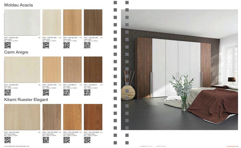 So sánh gỗ Mộc Phát và An Cường - Kiểu dáng, màu sắc đa dạng hơn