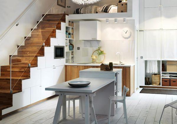 Nên đặt bếp ở gần cầu thang hay dưới gầm cầu thang?