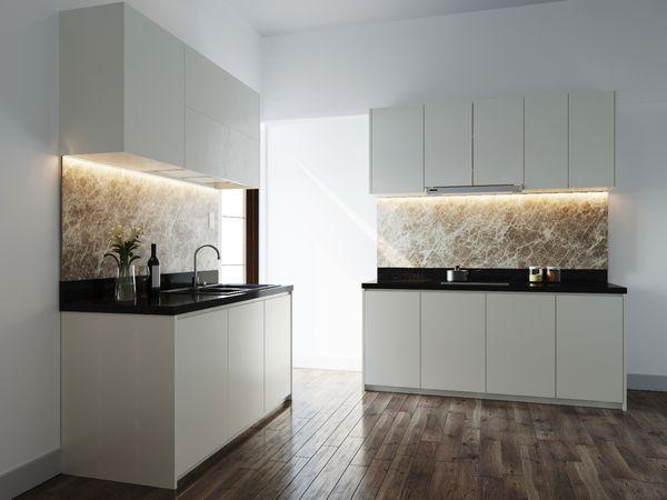 Bố trí tủ bếp ấn tượng để khắc phục góc chéo - 11