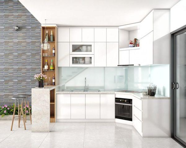 Thiết kế bếp góc chéo - 13
