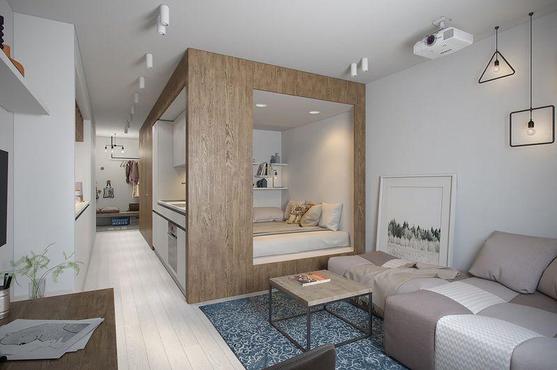 Mẫu thiết kế căn hộ studio 30m2 - 01
