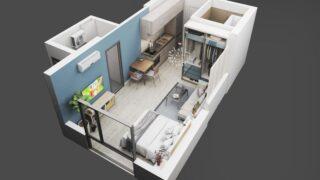 Thiết kế căn hộ studio 30m2 2