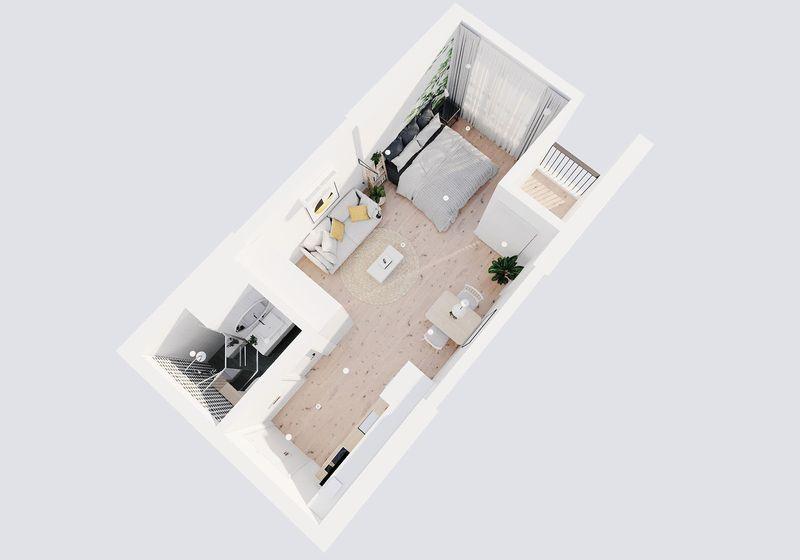 Cách bố trí nội thất trong căn hộ studio 30m2 đẹp và tiện nghi