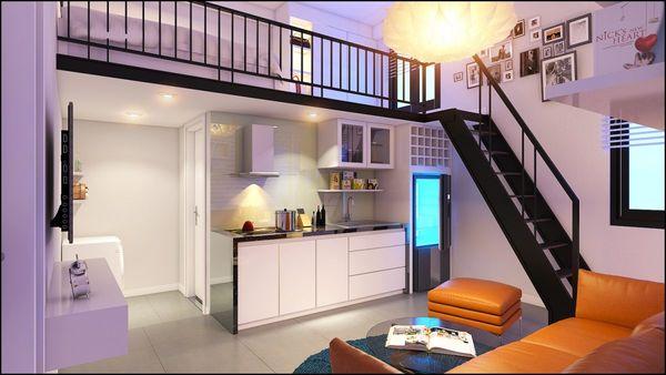 Mẫu thiết kế chung cư mini 20m2 - 16