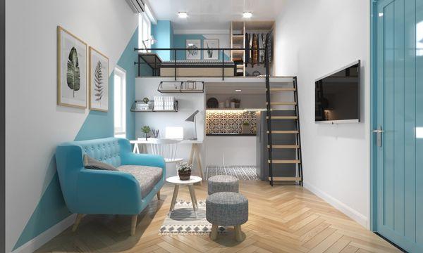 Mẫu thiết kế chung cư mini 20m2 - 13