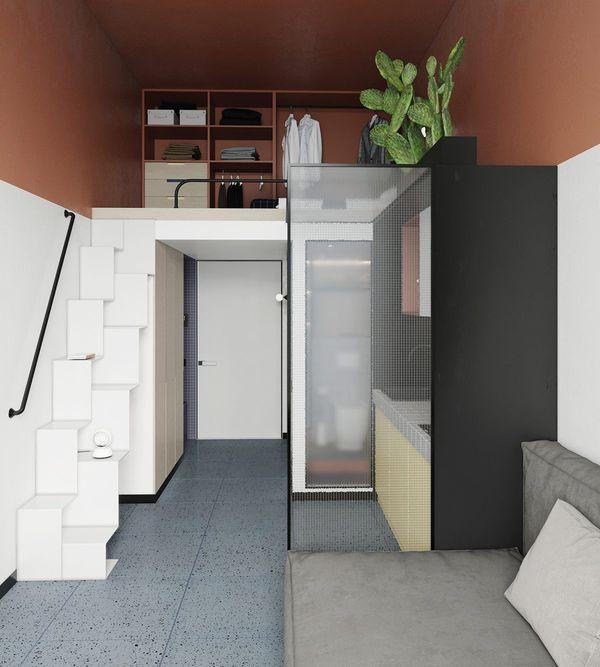 Mẫu thiết kế chung cư mini 20m2 - 09